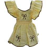 Cute vintage pinafore for doll