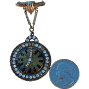 """Old faux watch pin for 19""""+ doll"""