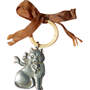 Kitty charm ring for doll