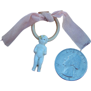 Frozen Charlotte charm ring for doll