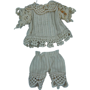 All bisque doll vintage outfit