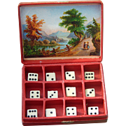 Antique French fashion dice box