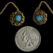 Antique Jumeau Bru doll earrings