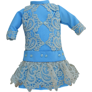 """French lace dress for 12"""" doll"""