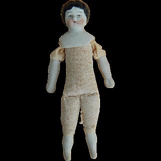 """Tiny German china head doll-4-1/8"""""""