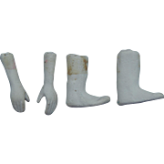 """Old compo/plaster limbs for 5-6"""" doll"""