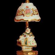 Reutter porcelain miniature Baroque Lady lamp