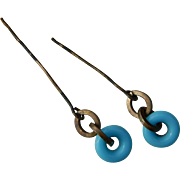 Lovely antique French doll earrings