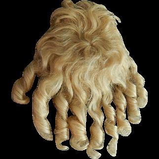 Fabulous antique blonde mohair wig