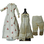 "Antique French fashion doll outfit for 16""-17"""