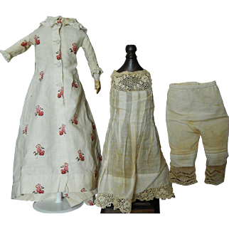 """Antique French fashion doll outfit for 16""""-17"""""""