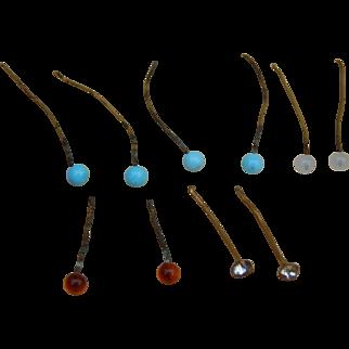 Rarest tiny original antique doll earrings