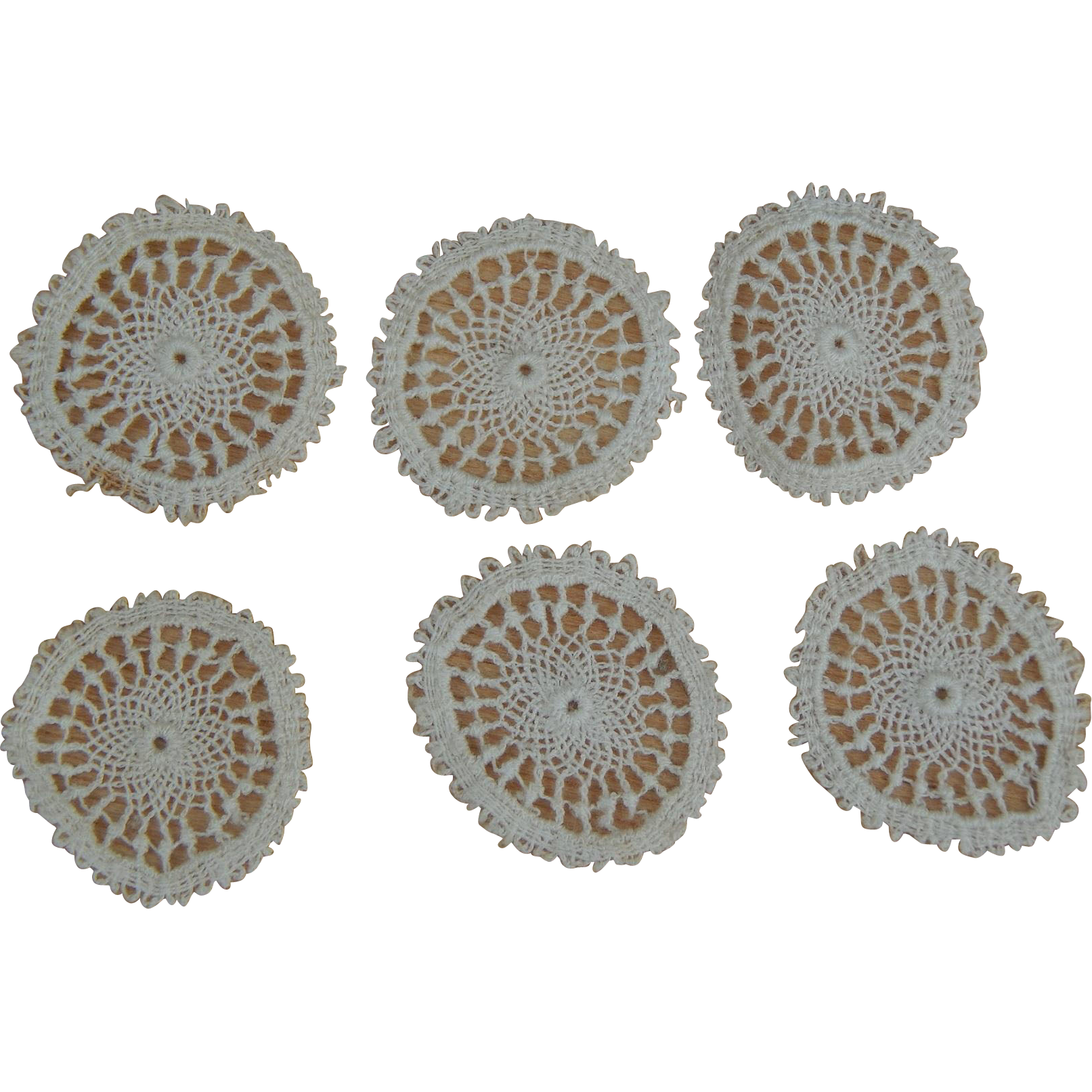 Antique Dollhouse Doilies Set Of 6 From Kimsdollgems On Ruby Lane