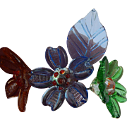 Old glass millinery bouquets for doll hats