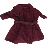 Antique burgundy wool coat for small bebe