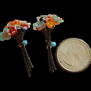 Rare mini glass flower bouquets