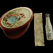 Antique doll treasure box w/contents