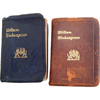 Antique mini leather Shakespeare books