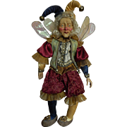 Vintage Mark Roberts jester fairy doll