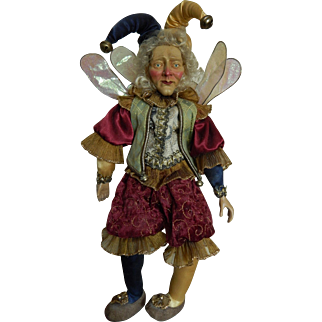 Vintage Mark Roberts jester fairy doll