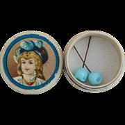 Jumeau doll earrings in box