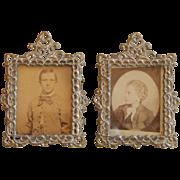 Antique dollhouse photo frames