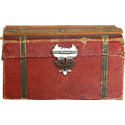 Small antique doll trunk