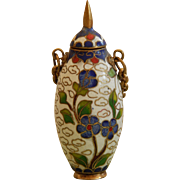 Old French fashion cloisonne snuff bottle