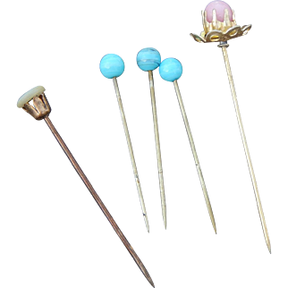 Lovely old hat pins for dolls