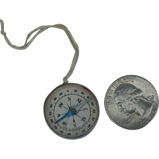 Small vintage compass for doll