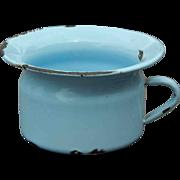 Vintage enamel ware chamber pot for doll