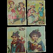 Antique lithograph dollhouse prints