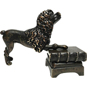Fine Antique Nineteenth Century French Cast Bronze Dog Figural Sculpture