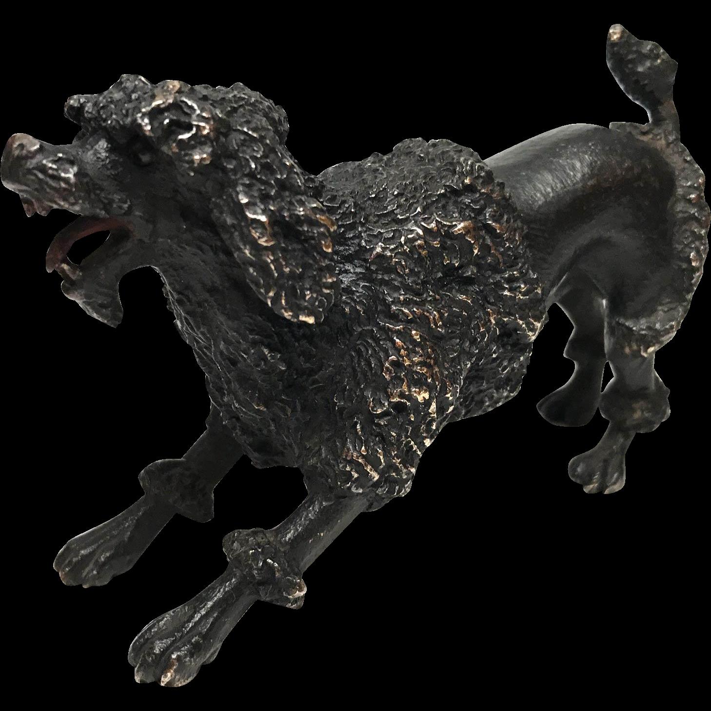 Fine Antique Nineteenth Century French Cast Bronze Dog Figural Sculpture