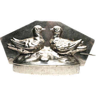 Vintage French Kissing Birds Chocolate Mold