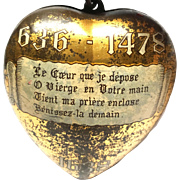 Vintage French Congress Marial Boulogne 1938 Sacred Heart Ex Voto