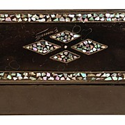 Victorian Papier-Mâché Boite aux Stylos (Writing Box)