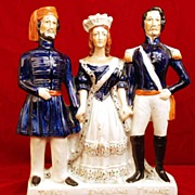 "Antique Staffordshire Figurine, ""Crimean War"" Turkey England France"