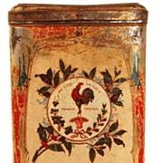 "Vintage French Coffee Tin ""Societe Francois Preve Cafe"""