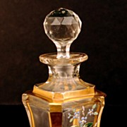 Antique Nineteenth Century French Glass Scent Bottle