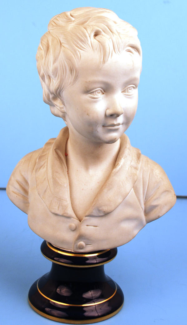 French Sevres Porcelain Bisque Bust (after Houdon) of Alexandre Brongniart