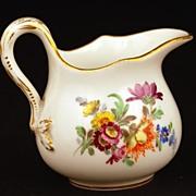 Vintage Miniature Porcelain Meissen Hand Painted Pitcher