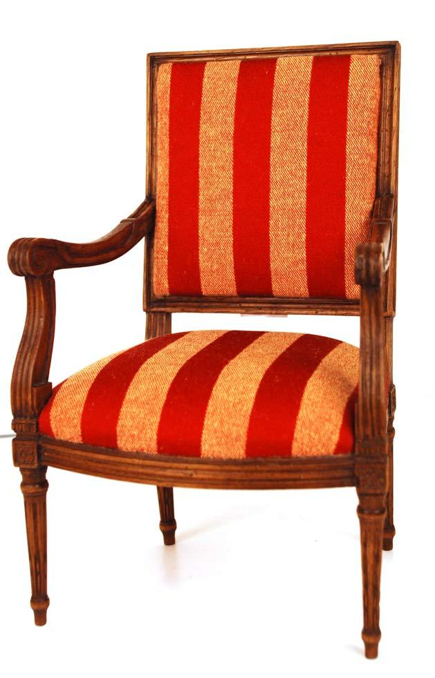 miniature wooden french fauteuil chair from parisbrocante on ruby