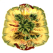 Antique French Majolica Serreguemines Platter