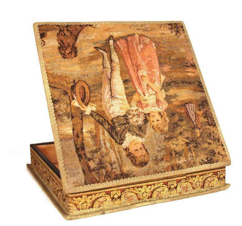 Antique French Tapestry Chocolate Box
