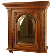 Antique Nineteenth Century French Cabinet w/Beveled Mirror