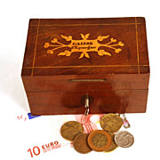 Antique Nineteenth Century Marquetry French Box/Bank - Red Tag Sale Item