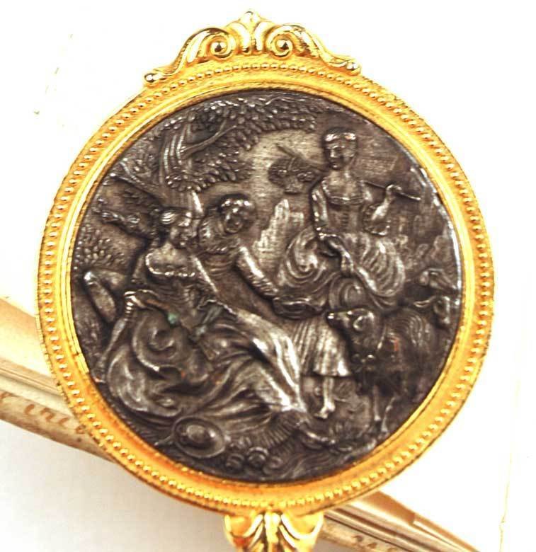 Antique French Miniature Miroir a Main (Hand Mirror)