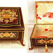 Antique French Dresser Box with Gilded Bronze Feet