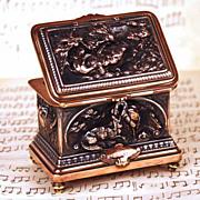 Antique French Cast Copper/Metal Trinket Box